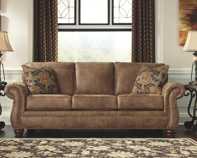 Ashley Furniture Signature Design – Larkinhurst Sofa – Contemporary Style Couch – Earth