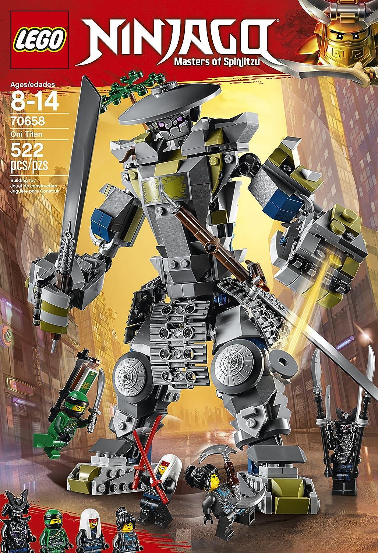 LEGO Ninjago - Titán Oni, Juguete de Construcción de Robot Samurái con Espada para Niños y Niñas de 8 a 14 Años, Incluye Minifiguras Ninja y ...