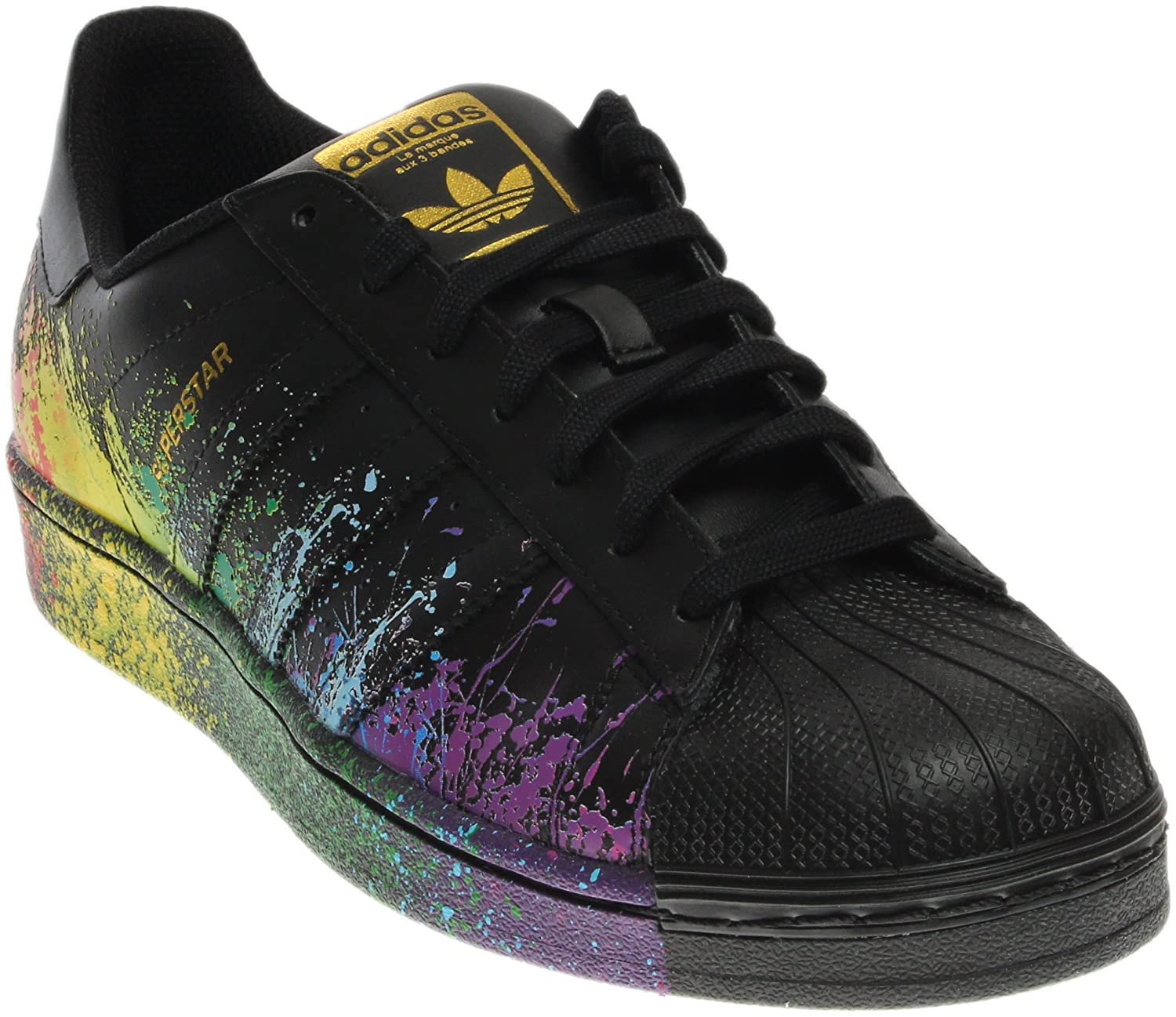 adidas Originals Men's Superstar Pride Pack Shoes BB1687,10.5