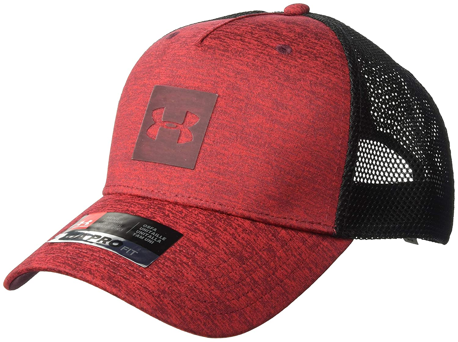 pretty nice f2f9b 8ae4e Amazon.com  Under Armour Men s Twist Trucker Cap, Aruba Red  Cardinal, One  Size Fits All  Clothing