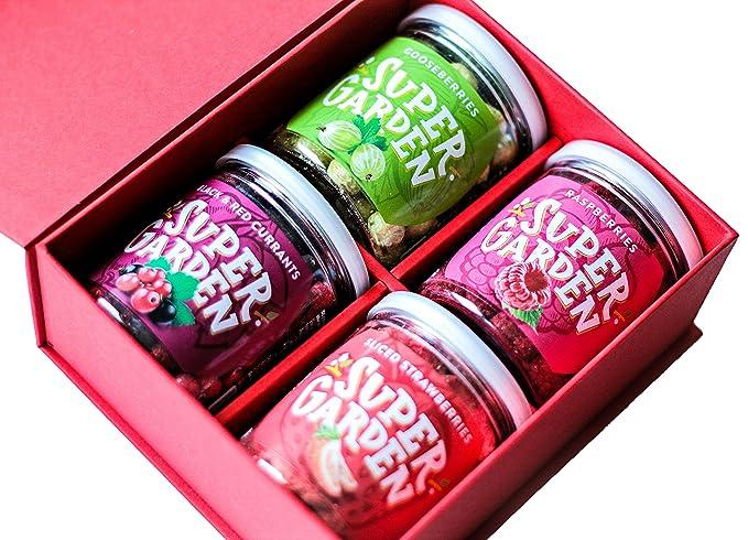 Caja de regalo de Supergarden - Frutas y Bayas Liofilizadas (Jardín de la abuela)