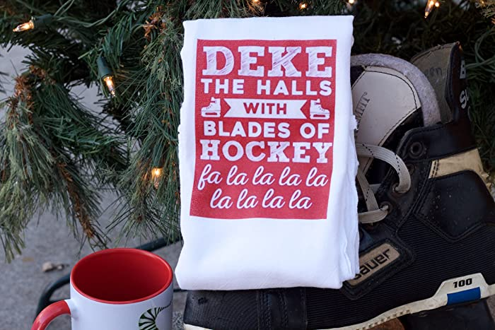 hockey christmas towel hockey christmas gifts hockey mom hockey gifts