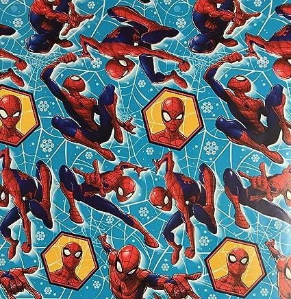 Amazon.com: Papel de regalo de Marvel Spiderman en color ...