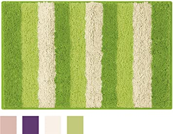 Delicieux Bathtopia Radella Microfiber Stripe 18 X 30 In. Bath Rug, Lime