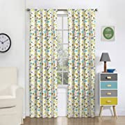 Eclipse 16458042X084MUL Jungle Party 42-Inch by 84-Inch Single Rod Pocket Window Curtain Panel, Multi