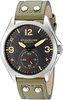 Stuhrling Original Tuskegee - Reloj de Cuarzo, para Hombre, con Correa de Cuero,