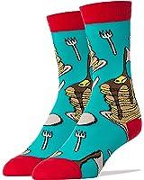 Oooh Yeah Men's Luxury Combed Cotton Crew Socks - Fun Food