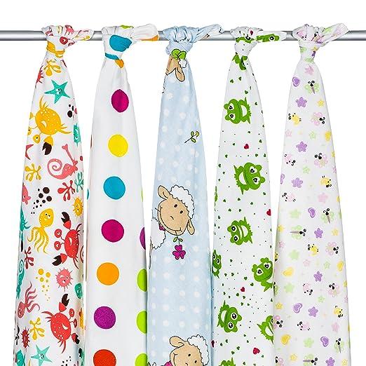 3 opinioni per Pack di 5quadrati in flanella, set di 5teli in flanella ideale per i neonati