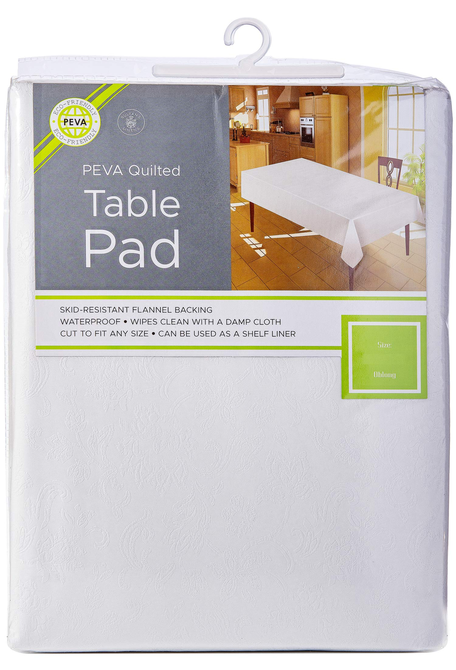 Sultan's Linens Eco-Friendly Peva Table Pad Waterproof Surface with Flannel Backing Floral (120-inch) by Sultan's Linens