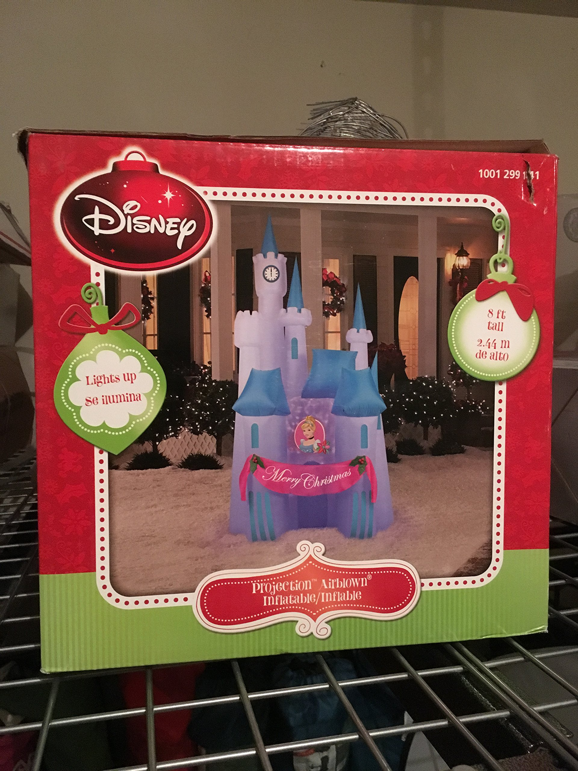 CHRISTMAS DECORATION YARD LAWN GARDEN PROJECTION KALEIDOSCOPE INFLATATABLE AIRBLOWN CINDERELLA CASTLE 8' TALL
