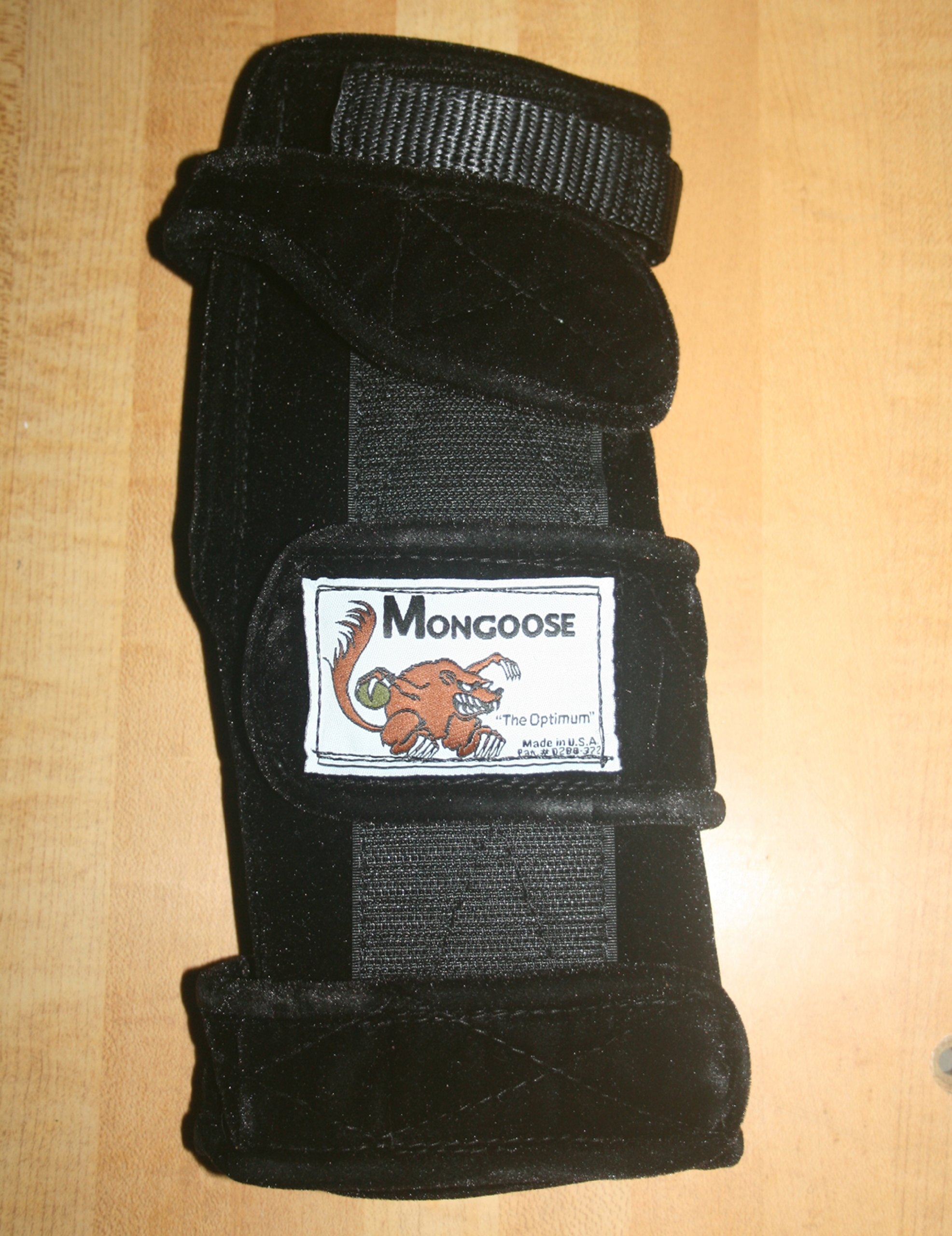 Mongoose ''Optimum Bowling Wrist Support Right Hand, Large, Black by Mongoose
