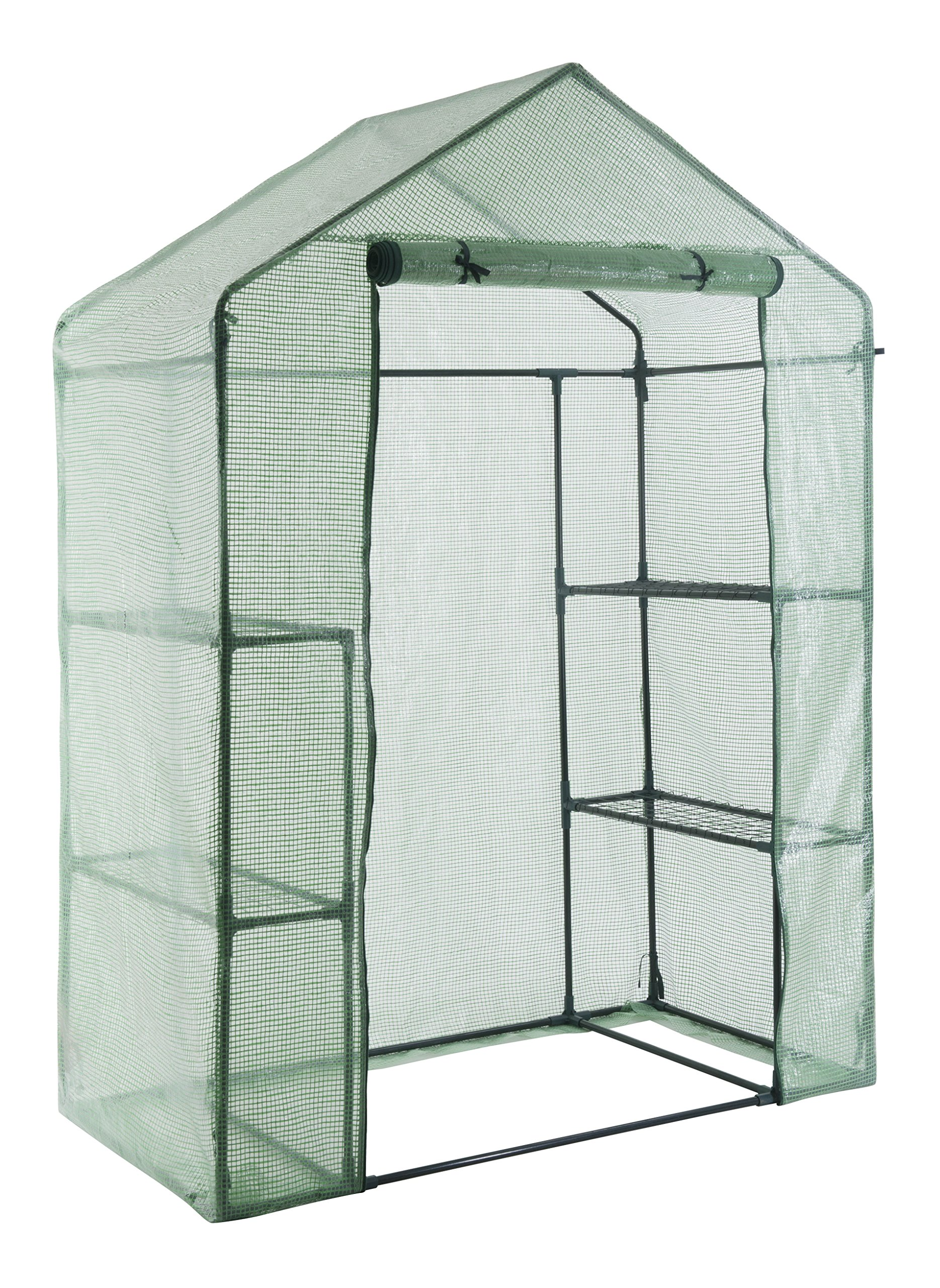 GOJOOASIS Walk in Portable Garden Greenhouse Mini Plants Shed Hot House with 3 Tiers by GOJOOASIS