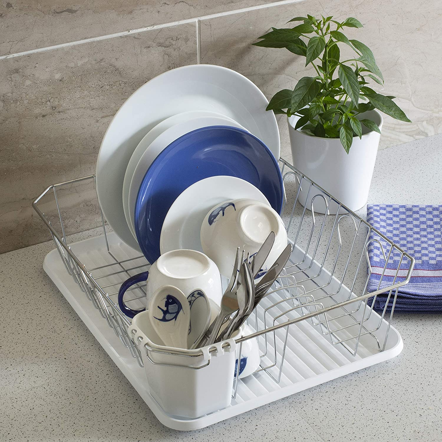 LARGE with Drip Tray Dish Drying Rack by Homiso/™