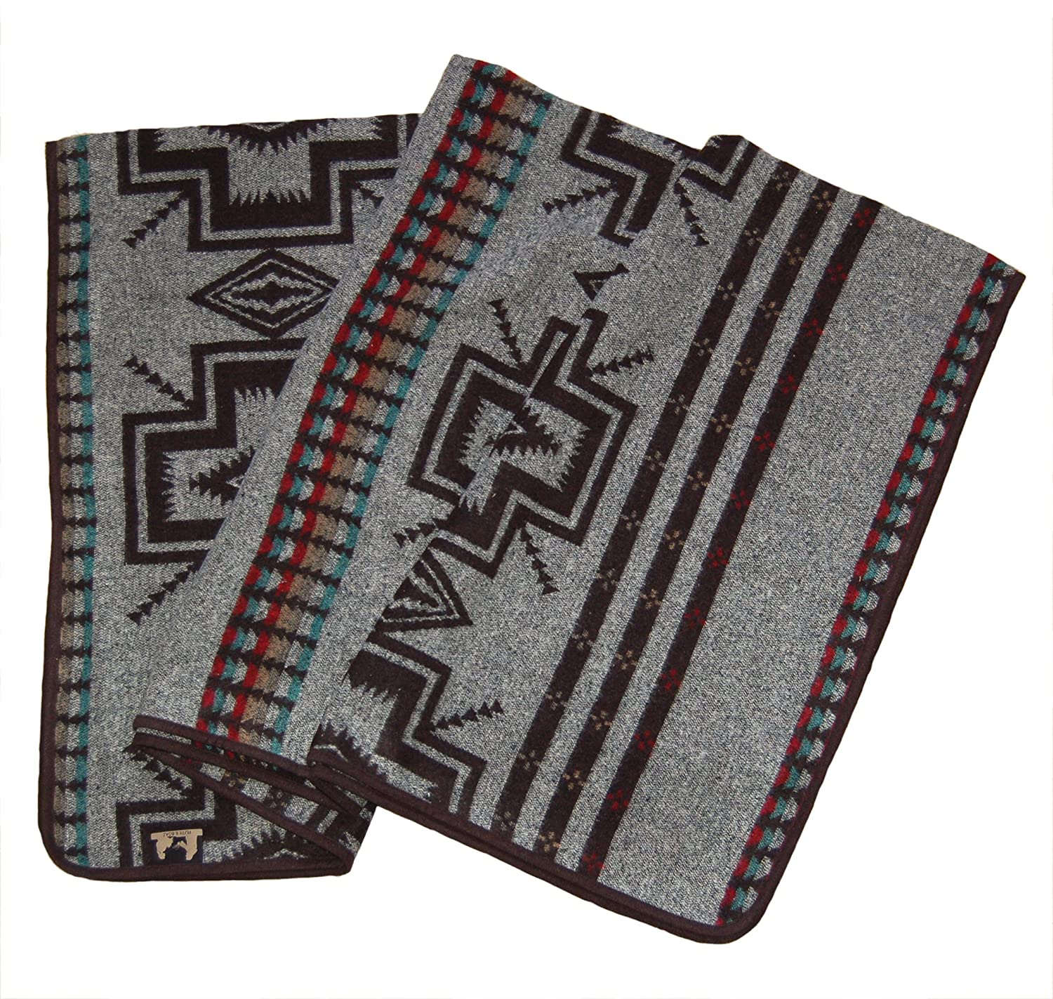 Ruth Boaz Outdoor Wool Blend Blanket Ethnic Inka Pattern P