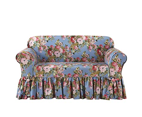 Superb Amazon Com Sure Fit Juliet By Waverly One Piece Loveseat Ncnpc Chair Design For Home Ncnpcorg