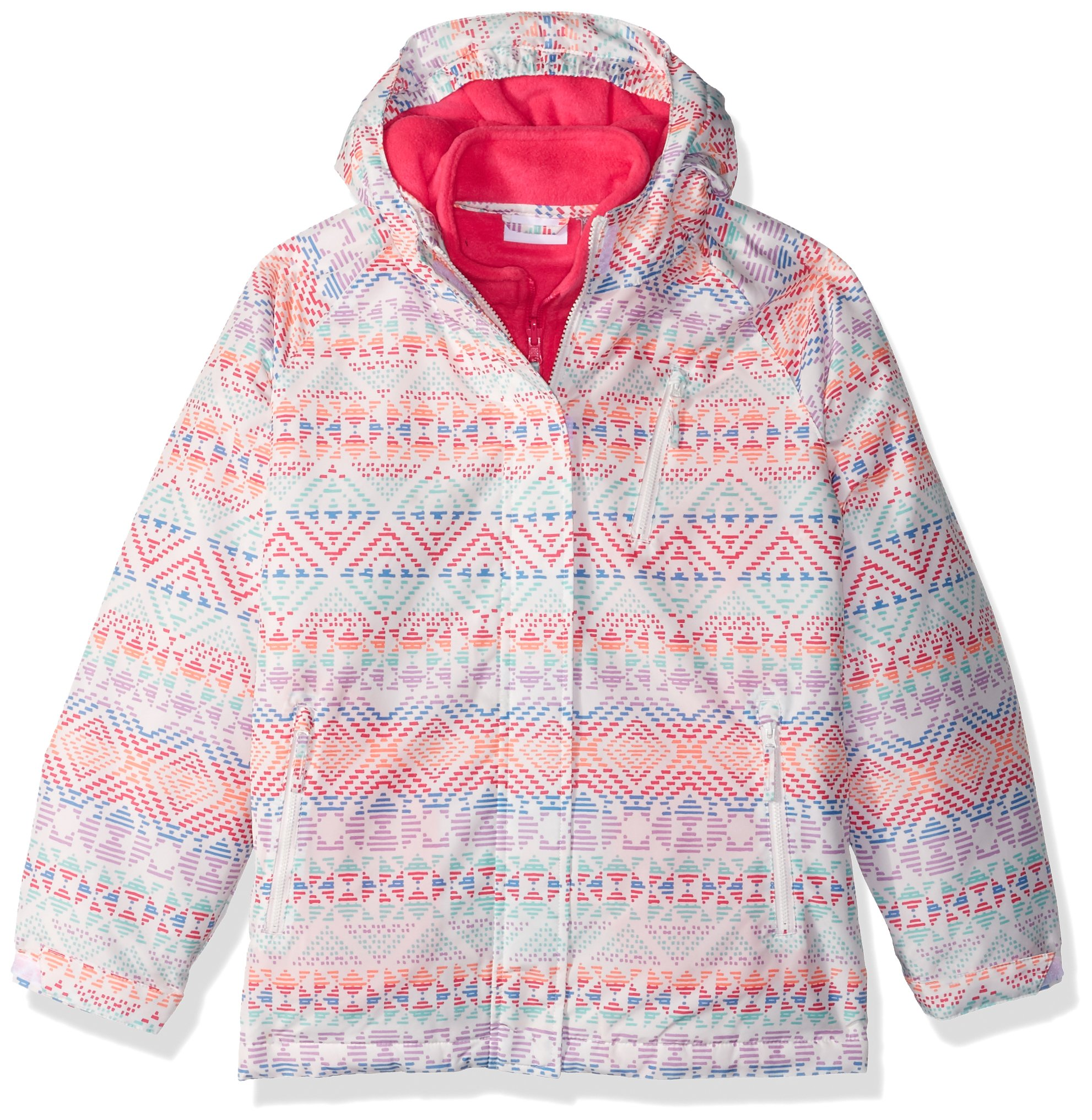 The Children's Place Big Girls' Printed 3-in-1 Jacket, Simplywht, XS (4)