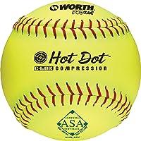 "Worth 12"" PROTAC HOT DOT ASA Slowptich Softball, Box of 12"