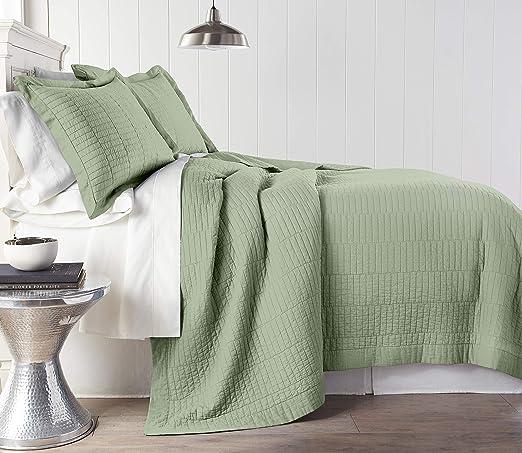Chezmoi Collection White 3-Piece Pre-Washed 100/% Cotton Bedspread Quilt Set