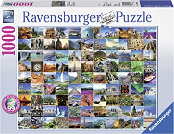 Ravensburger Puzzles 99 Beautiful Places on Earth, Multi Color (1000 Pieces)