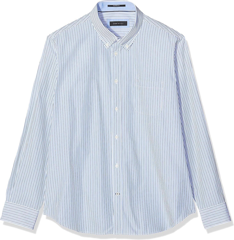 Cortefiel C1BCC Rayas bicolor TBD Camisa casual, Hombre, Azul ...