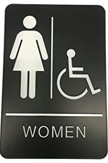 Womens Braille Handicapped Restroom Sign
