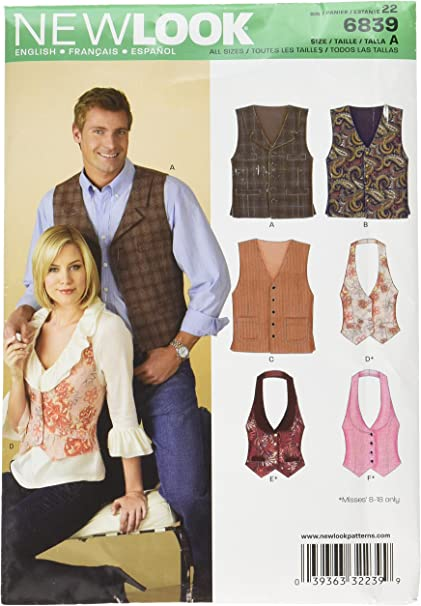 A 4-6-8-10-12-14-16 Size A New Look Sewing Pattern 6914: Misses Tops A
