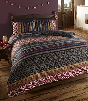De Cama Luxus Indian Ethnic Print Orkney Bettwäscheset Bettbezug