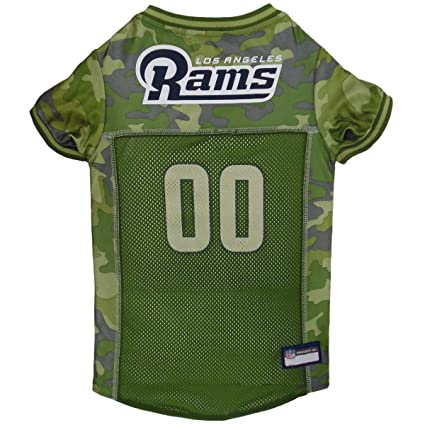 Pets First NFL LOS Angeles RAMS Camouflage Dog Jersey c83d4d5f02e