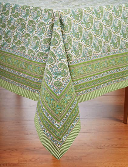 Tablecloth   Paisley Cotton Table Cover; 60u0026quot; X 120u0026quot; Rectangular  French Country Print