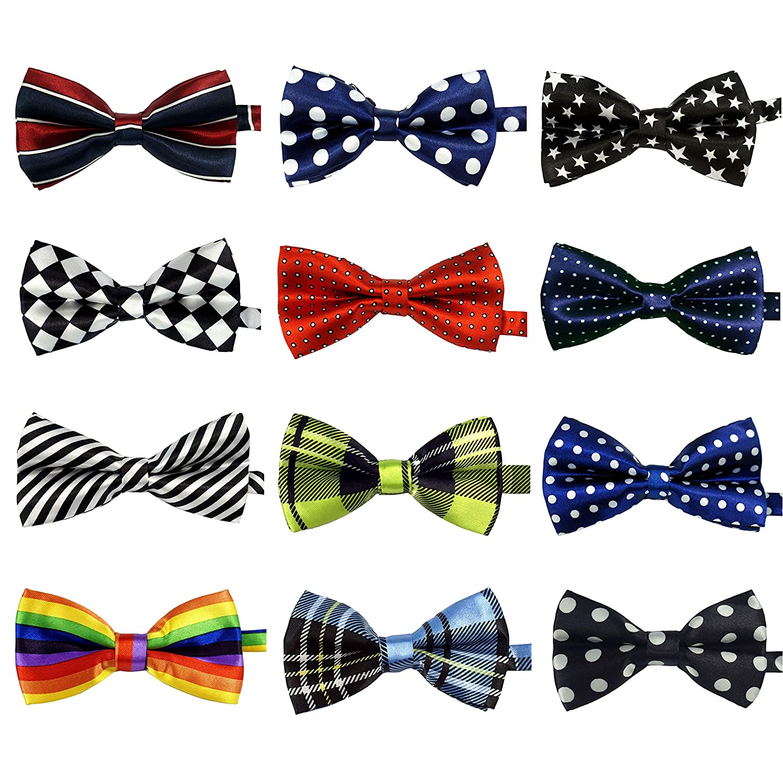 Retreez Boys Suspender Bow Tie Set Solid Color Square Textured Pre-Tied Bow Tie