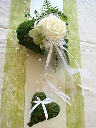 Tischdekoration Fur Ca 60 80 Pers Grun Zur Hochzeit Tischdeko