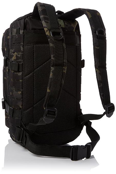 Amazon.com : Mil-Tec US Army Pack Small Laser Cut Multitarn Black : Sports & Outdoors