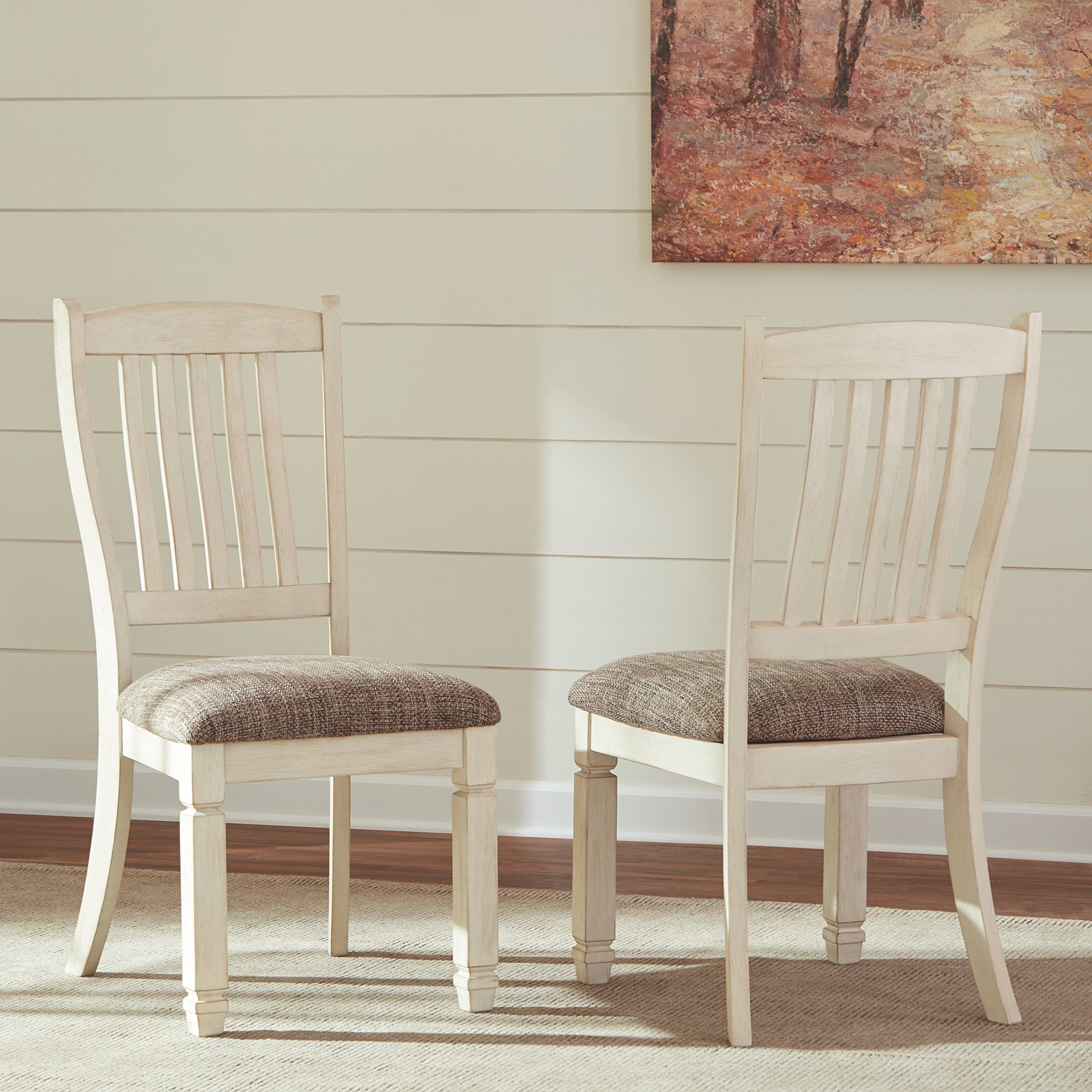 Ashley Furniture Signature Design - Bolanburg Dining Room Chair - Antique White by Signature Design by Ashley (Image #4)