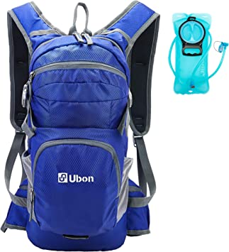 Cycling Gear for Hiking External Pocket FREEMOVE Hydration Pack Cooler Bag 10L Hydration Backpack Lightweight Running Camel Backpack 2 Liter Water Bladder Leakproof Fully Adjustable