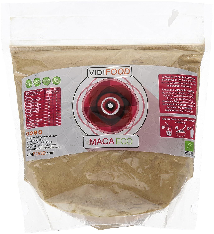 Maca Negra ECO en Polvo - 1kg - Fuente de Aminoácidos, Fibra y Vitaminas - Alta calidad - 100% Natural - Superalimento Saludable para Musculación, ...