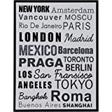 "Amazon Brand – Rivet City Name Wall Art Canvas Print in Black Frame, 31.75"" x 41.75"""
