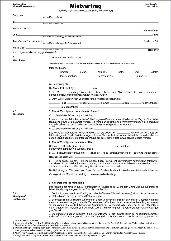 sigel-einheitsmietvertrag