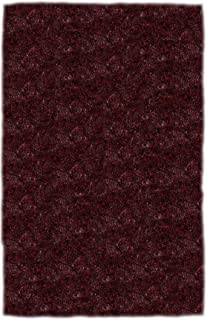 "product image for Super Shag Area Rug Shaw Swag Collection Raspberry Jam 2'6"" x 12'"