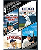 4 Film Favorites Classic Baseball ( Bang The Drum Slowly / Fear Strikes out / The Pride Of The Yankees / Cobb)