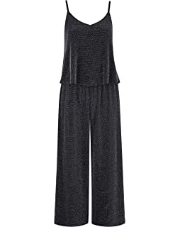 Womens Layer Glitter Jumpsuit Simply Be