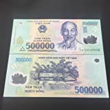 1 x 500,000 Dong VIETNAM MONEY POLYMER CURRENCY BANKNOTES UNC