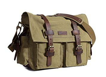 1a2ae63f390e Image Unavailable. Image not available for. Color  Beeaoo Canvas Messenger  Bag