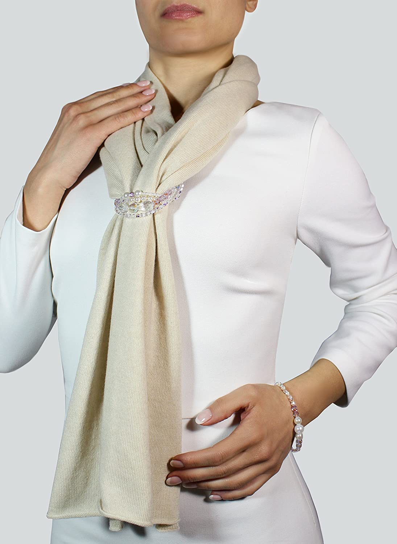 b6d3e4973a4d Écharpe en cachemire écharpe femme cashmire écharpe pour femme écharpe avec  bijoux chale en cachemire  Amazon.fr  Handmade
