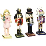 Burton & Burton Nutcracker Ornaments Wood Handpainted Assorted Set of 4