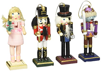 burton burton nutcracker ornaments wood handpainted assorted set