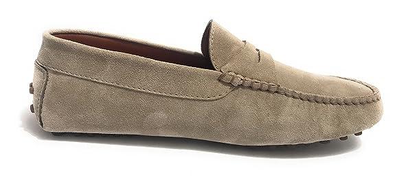 Elite - Mocasines de Ante para Hombre Gris Gris Gris Size: 42 EU: Amazon.es: Zapatos y complementos