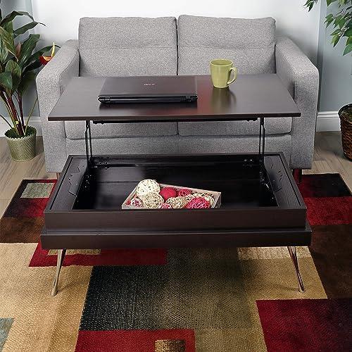 Koryo Espresso Lift-Top Rectangular Coffee Table