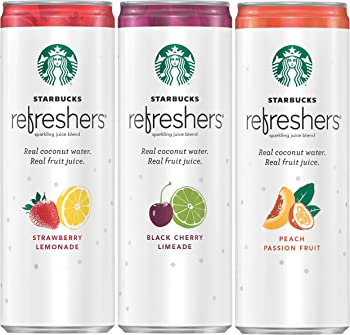 12 Cans Starbucks Refreshers Sparkling Juice Blends