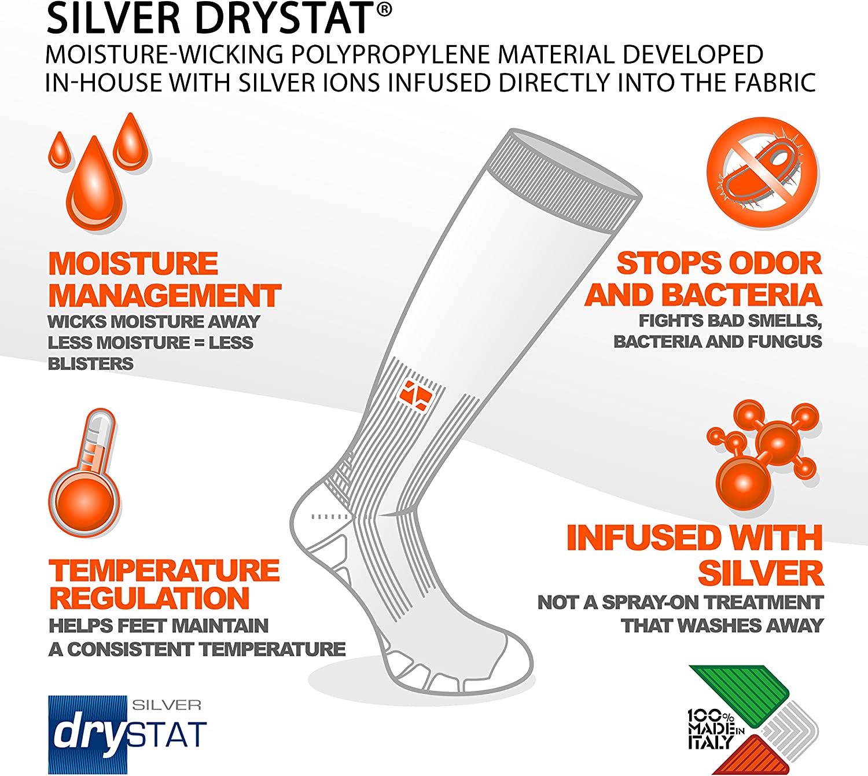 Eurosocks Patented Recovery Graduated Compression OTC Socks