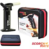 Professional Creme Brulee Culinary Butane Blow Torch Lighter with Safety Lock and EVA Carry Case. Ultimate Kitchen Cooking and Outdoor Camping Companion. Perfect Housewarming Gift